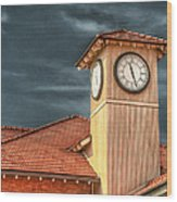 Depot Time Wood Print by Brenda Bryant