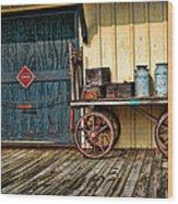 Depot Wagon Wood Print by Kenny Francis