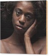 Chynna African American Nude Girl In Sexy Sensual Photograph And In Color 4787.02 Wood Print
