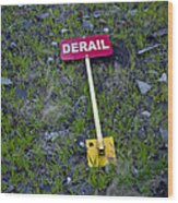 Derail Or That's Life Wood Print