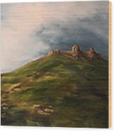 Deralict Chartley Castle Staffordshire Wood Print