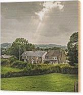 Derbyshire Cottages Wood Print by Amanda Elwell