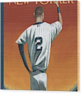 Derek Jeter Bows Out Wood Print