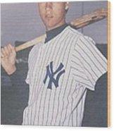 Derek Jeter New York Yankees Wood Print