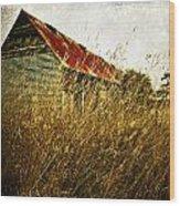 Derelict Barn Wood Print