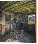 Derelict Cottage Wood Print by Adrian Evans