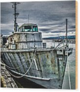 Derelict Navy Vessel Wood Print