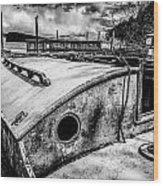 Derelict Sailboat Wood Print