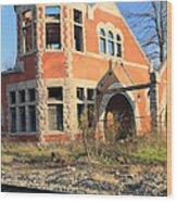 Derelict Station Wood Print
