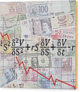 Derivatives Financial Debacle - Black Scholes Equation Wood Print