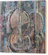 Derniere Chanson Wood Print by Chaline Ouellet