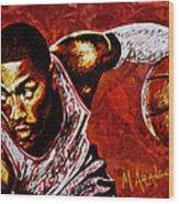 Derrick Rose Wood Print