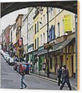 Derry Life - Irish Art By Charlie Brock Wood Print