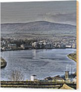 Derry View Wood Print