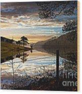 Derwent Village Reflections Wood Print