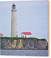 Des-rosiers Lighthouse Is Canada's Tallest In Forillon Np-qc Wood Print