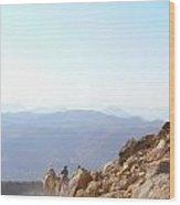 Descending From Sinai Wood Print
