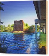 Deschutes Bridge  Anderson Ca  Watercolor   Wood Print