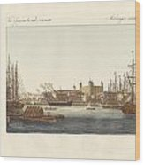 Description Of The Tower Of London Wood Print