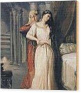 Desdemona Wood Print by Theodore Chasseriau