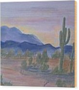 Desert Aglow Wood Print