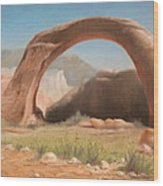 Desert Arch Wood Print