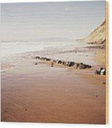 Desert Beach Wood Print