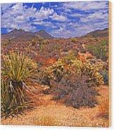 Desert Beauty Wood Print