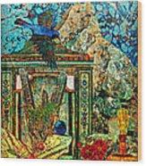 Desert Blue Wood Print