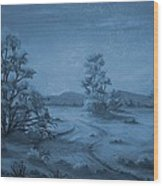 Desert Blues Wood Print