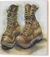 Desert Boots Wood Print