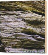Desert Boulder Detail Wood Print