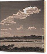 Desert Clouds Wood Print