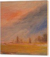 Desert Evening 03 Wood Print