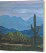 Desert Evening Wood Print