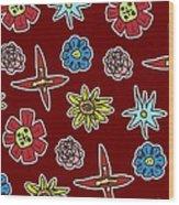 Desert Floral Wood Print