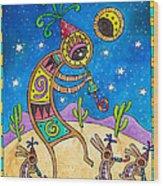 Desert Holiday Celebration Wood Print