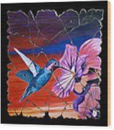 Desert Hummingbird Wood Print