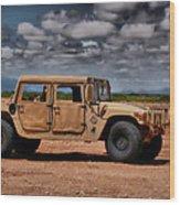 Desert Humvee Wood Print
