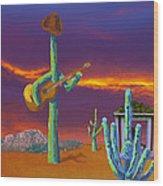 Desert Jam Wood Print