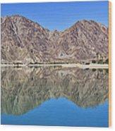 Desert Lake Stillness Wood Print