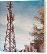Desert Lighthouse Wood Print