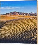 Desert Lines Wood Print by Chad Dutson