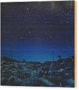 Desert Meteor Wood Print