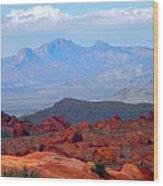 Desert Mountain Vista Wood Print