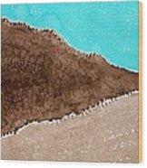 Desert Mountains Original Painting Wood Print