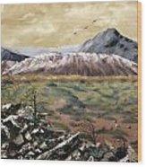 Desert Mountains Wood Print