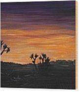 Desert Night Wood Print by Anastasiya Malakhova