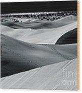 Desert Night Death Valley By Diana Sainz Wood Print