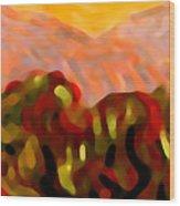 Desert Olive Trees Wood Print